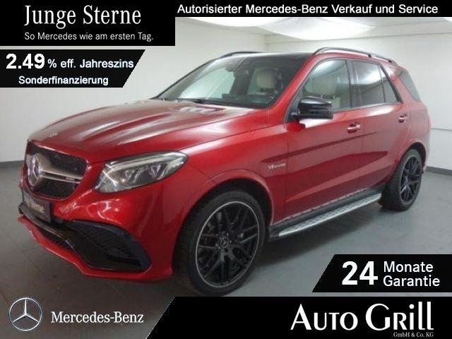 Mercedes-Benz GLE 63 AMG 4M B&O-Sound StdHzg Distr+ 360°Kamera, Jahr 2016, petrol
