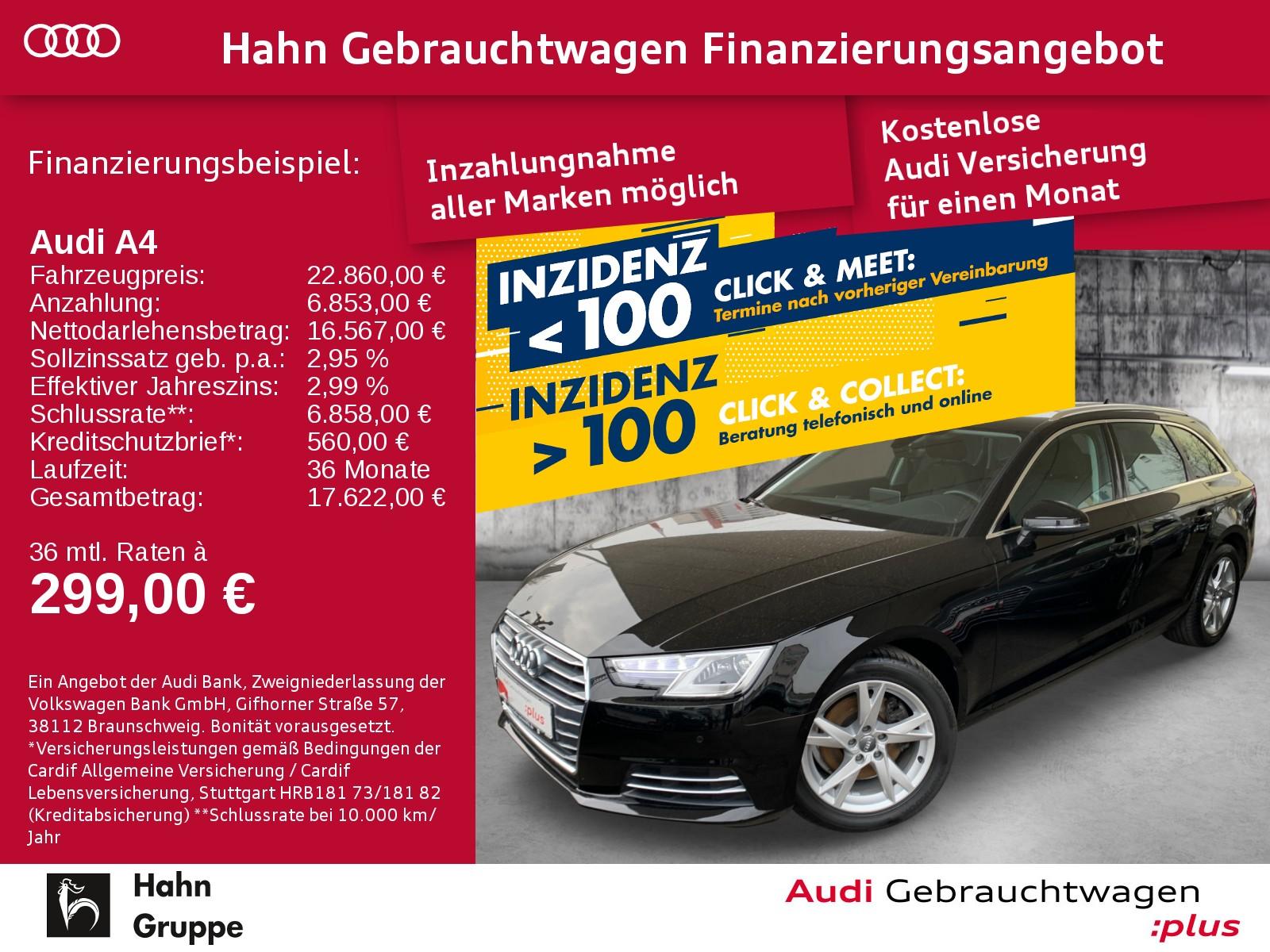 Audi A4 Avant Sport 1.4TFSI Navi Xen Sitzh Einpark Tempo, Jahr 2017, Benzin