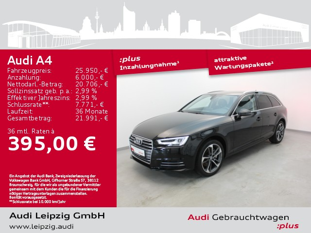 Audi A4 Avant 2.0 TDI sport S-tronic *LED*HuD*Navi*, Jahr 2017, Diesel