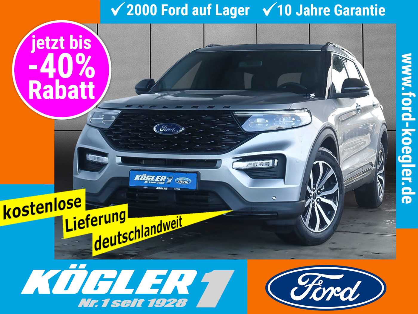 Ford Explorer 3.0 Plug-In-Hybrid ST-Line Aut. -9%*, Jahr 2020, Hybrid