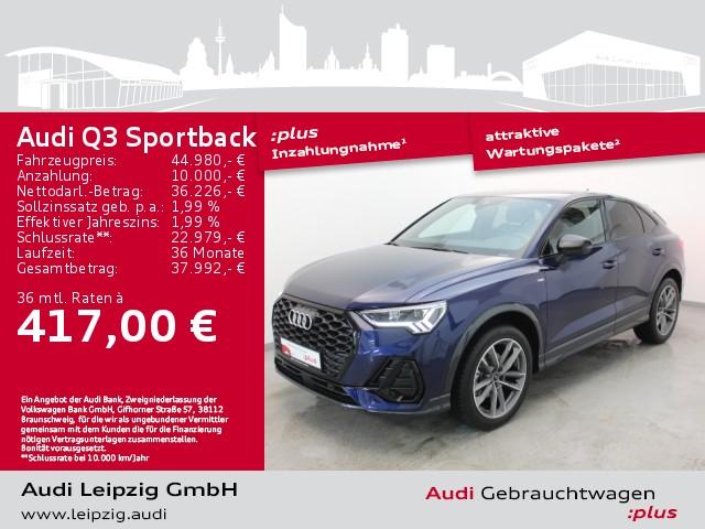 Audi Q3 Sportback 35 TFSI S line *LED*AHK*Navi*, Jahr 2021, Benzin