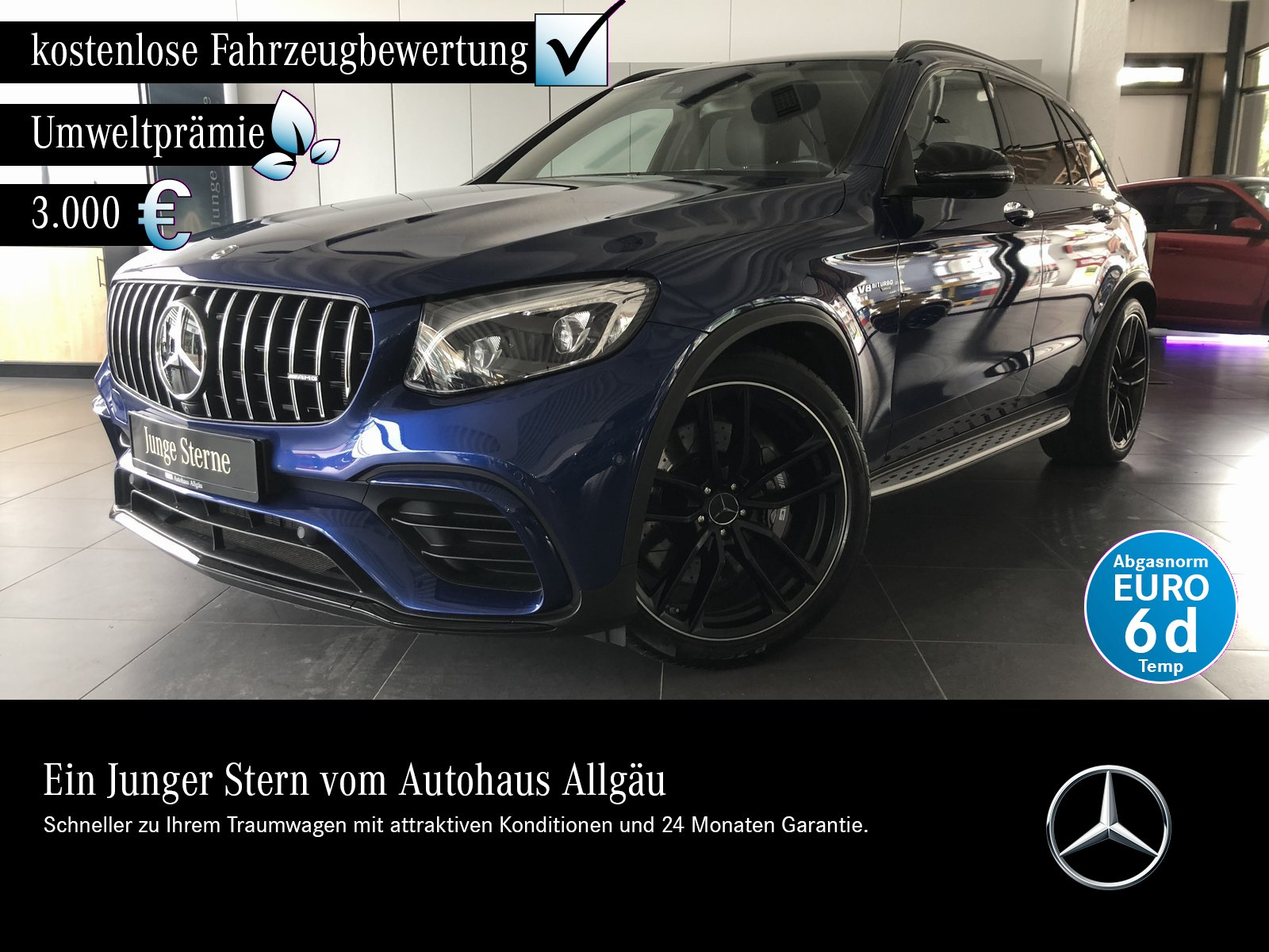 Mercedes-Benz GLC 63 AMG 4M +Comand+Headup+Distronic+AHK+Pano+, Jahr 2018, Benzin