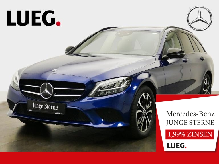 Mercedes-Benz C 180 T Avantgarde+COM+LED+Mem+Distr+AHK+SpP+360, Jahr 2019, Benzin