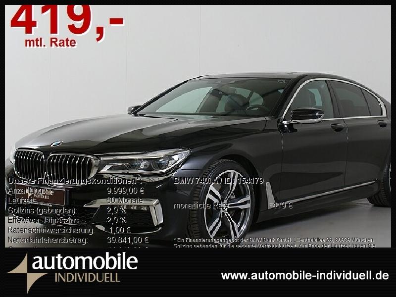 BMW 740i A M Sportpaket Laser ACC Standh. Hifi HuD N, Jahr 2018, Benzin
