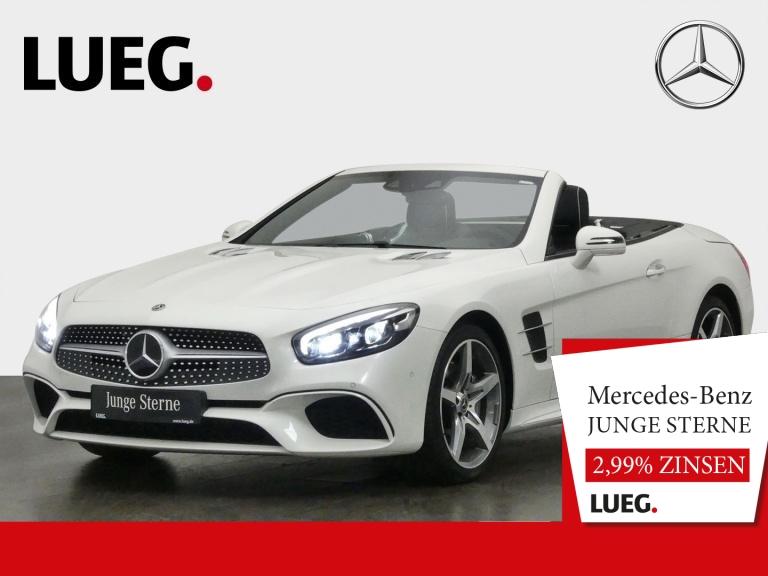 Mercedes-Benz SL 500 AMG+COM+LED+19''+ABC+H&K+Sitzkl+Distr+RF, Jahr 2018, Benzin