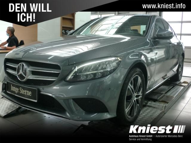 Mercedes-Benz C 180 Avantgarde+Navi+SHD+Kamera+LED+DAB+Totwinkel, Jahr 2020, Benzin
