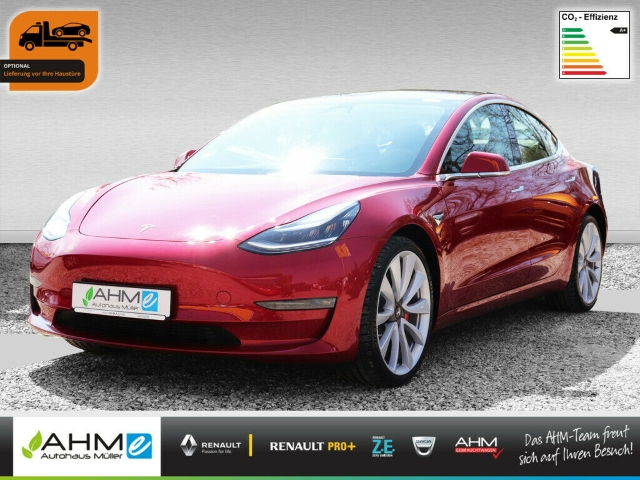 Tesla Model 3 Performance - LR AP2 ON STOCK, Jahr 2019, Elektro