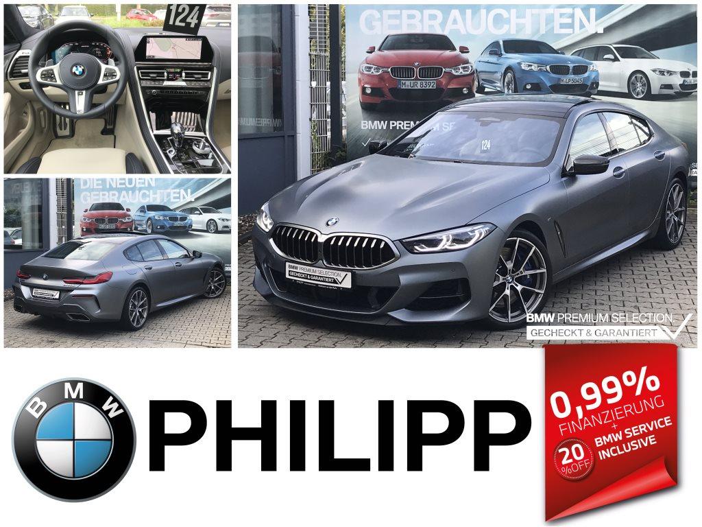 BMW M850i xDrive Gran Coupe Pano TV+ Laser B&W Night V., Jahr 2021, Benzin