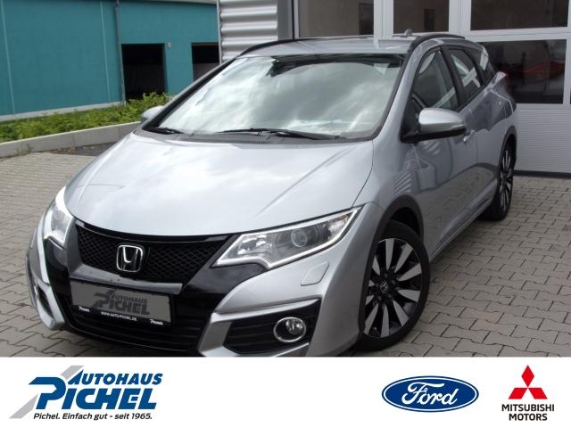Honda Civic Tourer Elegance Rückfahrkam. LED-Tagfahrlicht Multif.Lenkrad NR RDC Alarm AD Klimaautom, Jahr 2016, Benzin