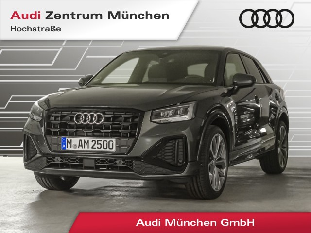 "Audi Q2 35 TFSI S line 19"" Virtual LED AHK Teilleder Assistenz Navi R-Kamera S tronic, Jahr 2021, petrol"
