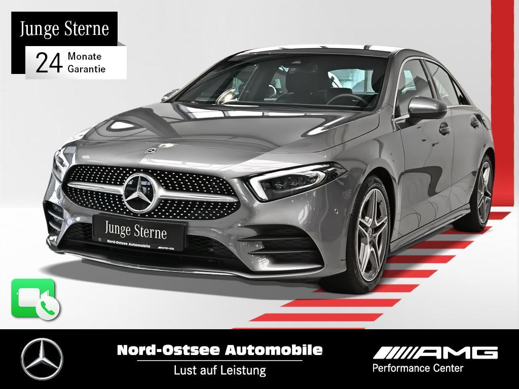 Mercedes-Benz A 200 Limo AMG AHK LED Navi MBUX Sitzheizung, Jahr 2019, Benzin