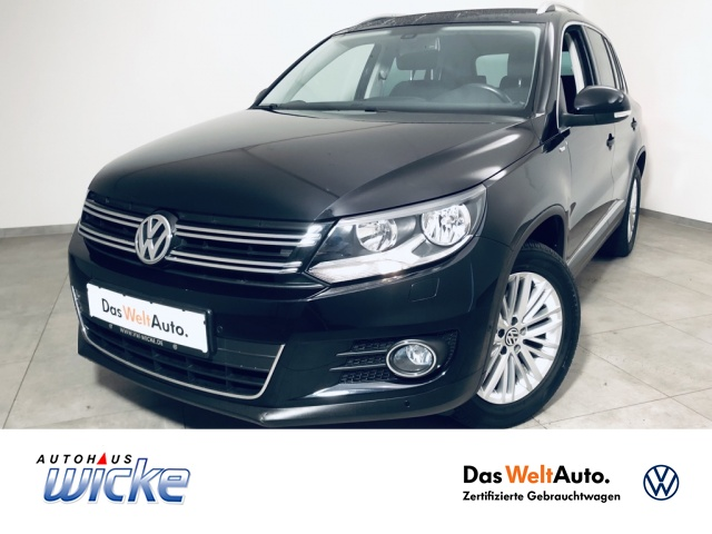 """Volkswagen Tiguan 1.4 TSI CUP Klima Standhzg LM 17"""", Jahr 2014, petrol"""