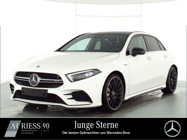 Mercedes-Benz A 35 AMG 4M AMG Sport Night Navi LED Pano Ambien, Jahr 2019, Benzin