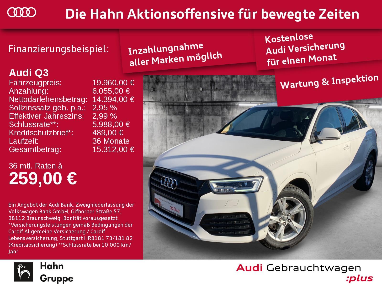 Audi Q3 2.0TDI S-Trc Sport LED Navi Pano EinparkH, Jahr 2017, Diesel