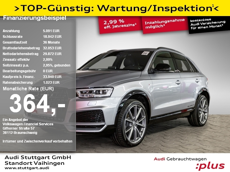 Audi Q3 2.0 TDI quattro S line competition LED Pano, Jahr 2017, Diesel