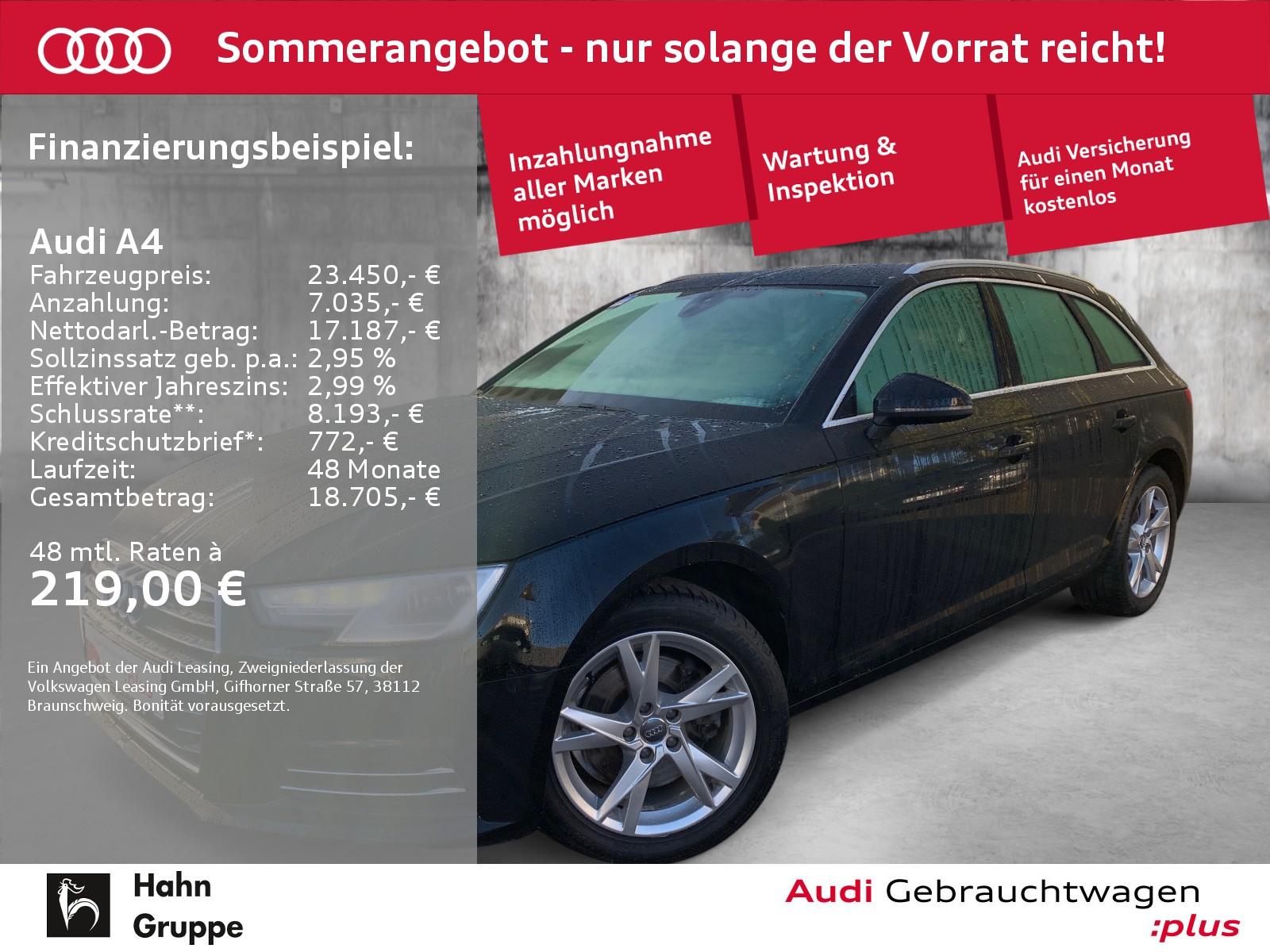 Audi A4 Avant 1.4 TFSI Navi Xen Sitzh Einpark Klima, Jahr 2018, Benzin