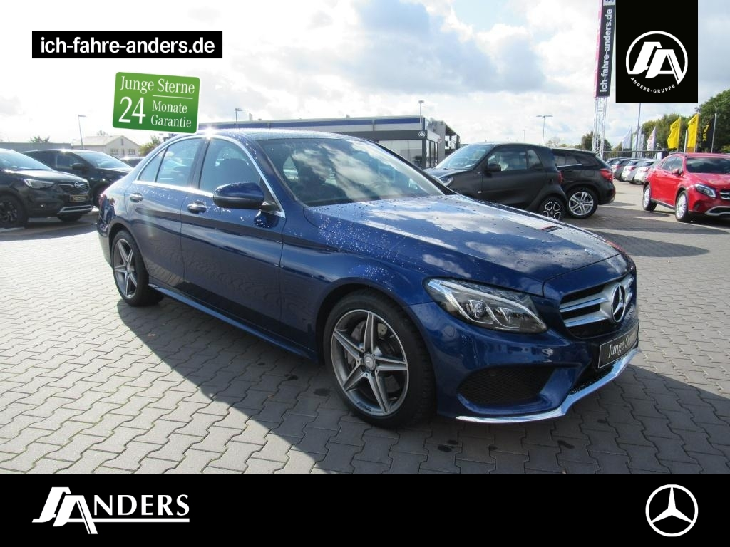 Mercedes-Benz C 400 4M AMG+Comand+Pano+HUD+LED+AHK+PDC+Memory, Jahr 2016, Benzin