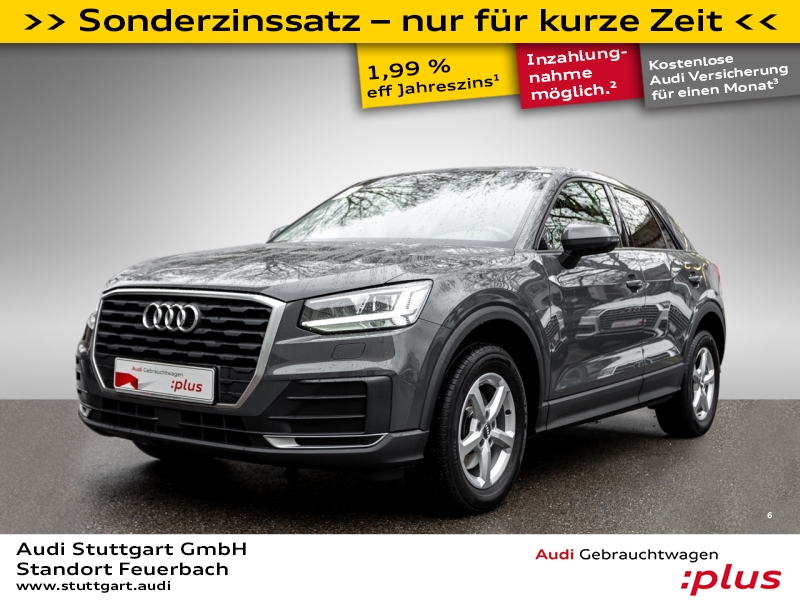Audi Q2 1.0 TFSI S tronic AHK LED Tempomat SHZ PDC, Jahr 2017, Benzin