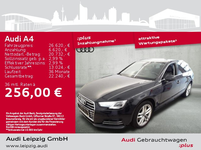 Audi A4 Avant 2.0 TFSI design ultra *Audi connect*, Jahr 2018, Benzin