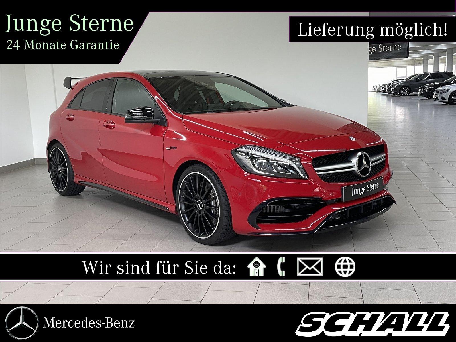 Mercedes-Benz A 45 4M AMG PERF.SITZE+PERF.ABGAS+NIGHT+PANO+KAM, Jahr 2015, Benzin