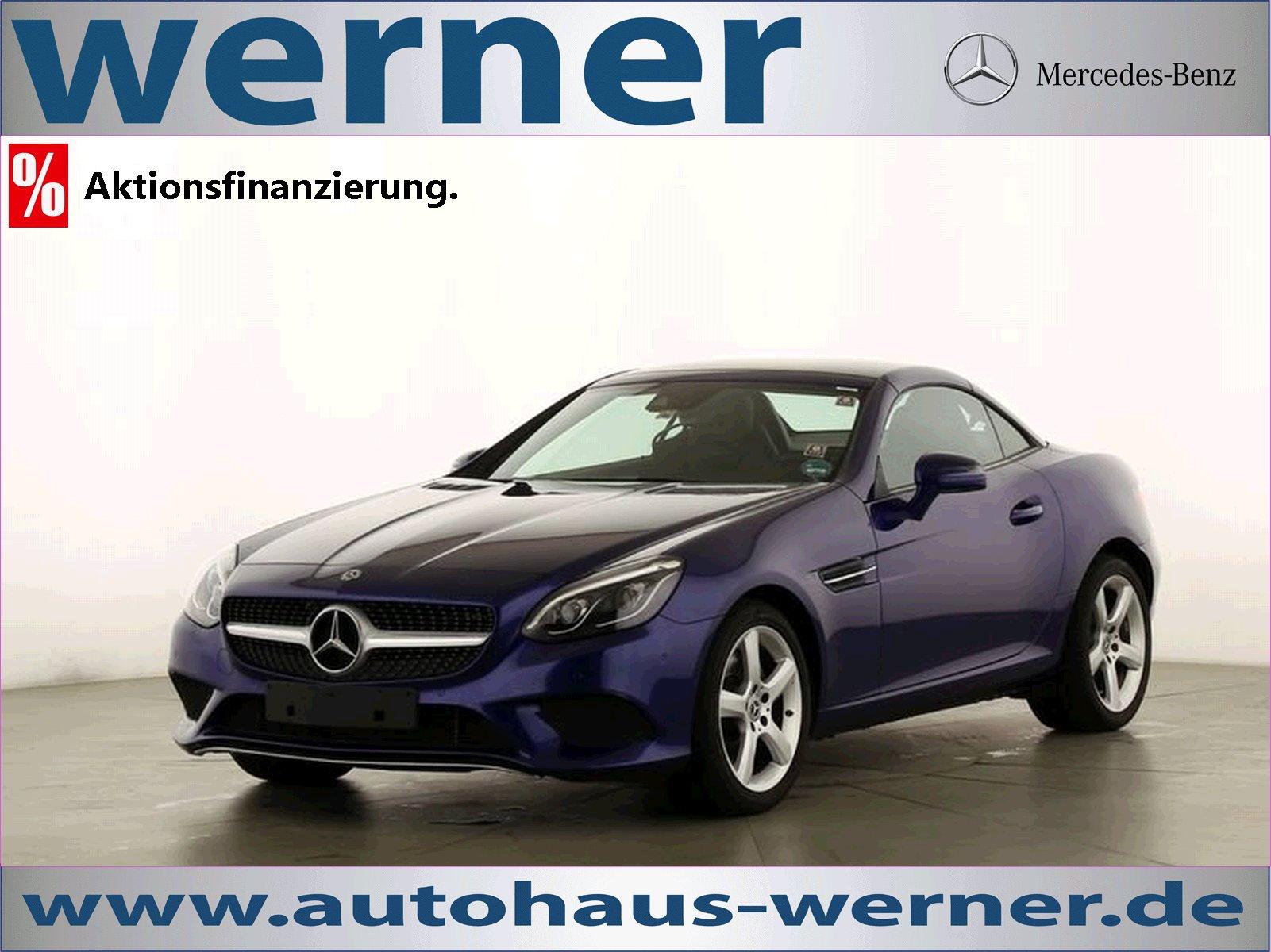 Mercedes-Benz SLC 200 LED+ILS+Volleder+AIRSARF+Totwinkel+Navi, Jahr 2018, petrol