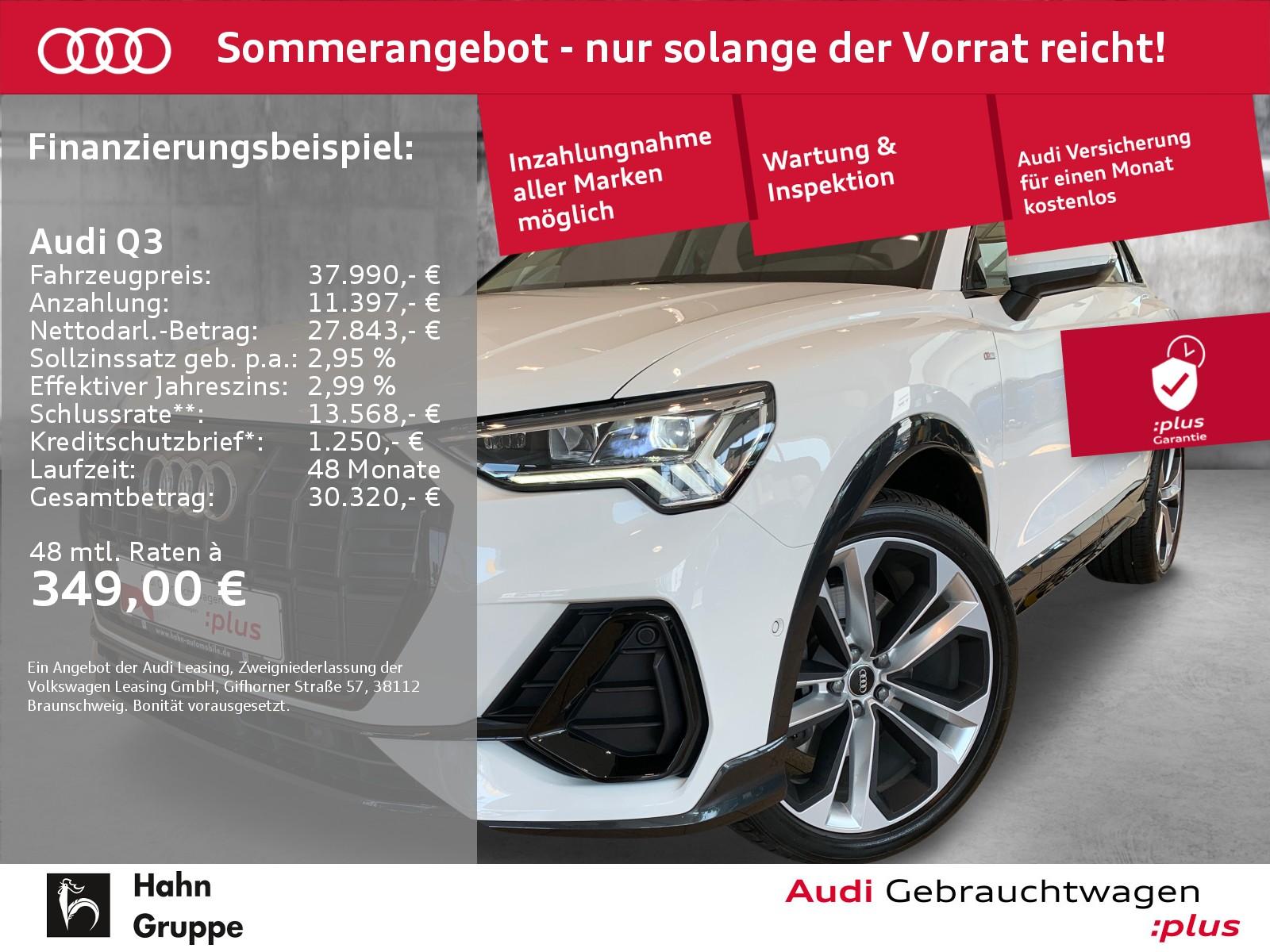 Audi Q3 45 TFSI qua. S-trc S-line Navi LED ACC Sitzh, Jahr 2020, Benzin