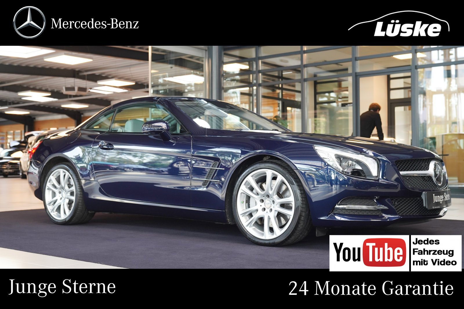 Mercedes-Benz SL 400 MAGIC SKY Massage Nachtsicht Harman DISTR, Jahr 2015, Benzin