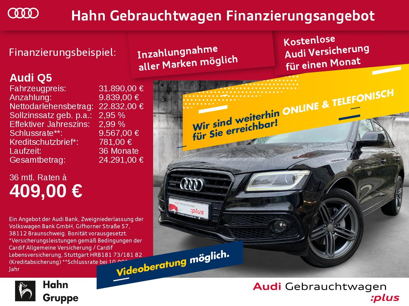 Audi Q5 3.0TDI qua. S-trc Navi Xen Pano Sitzh Einpark, Jahr 2016, Diesel