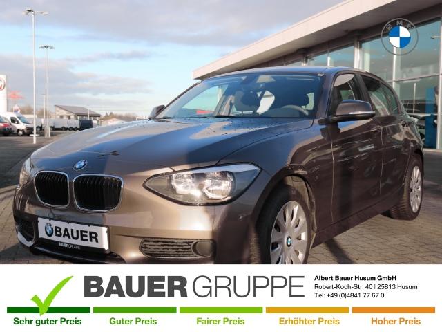 BMW 116 i Keyless RDC Klimaautom SHZ CD AUX ESP Sperrdiff. Seitenairb. BC met. Alu Radio TRC, Jahr 2014, Benzin