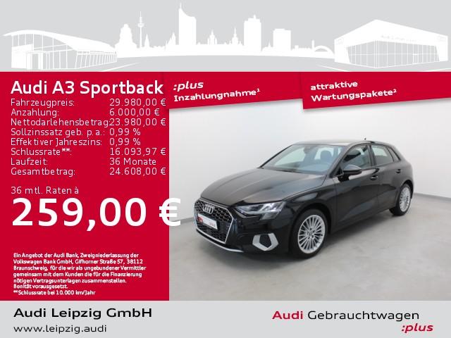 Audi A3 Sportback 1.5 TFSI advanced *S tronic*Navi*, Jahr 2020, Benzin