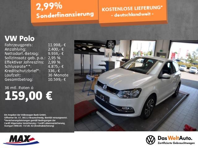 Volkswagen Polo 1.2 TSI SOUND NAVI+PDC+KLIMA+ALU 15+SITZHZG, Jahr 2017, Benzin