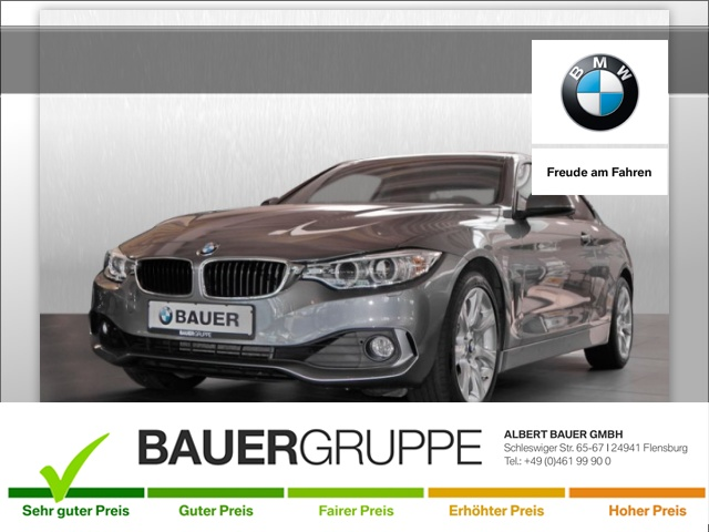 BMW 440i xDrive Advantage Bluetooth Navi Vollleder PDC, Jahr 2016, petrol