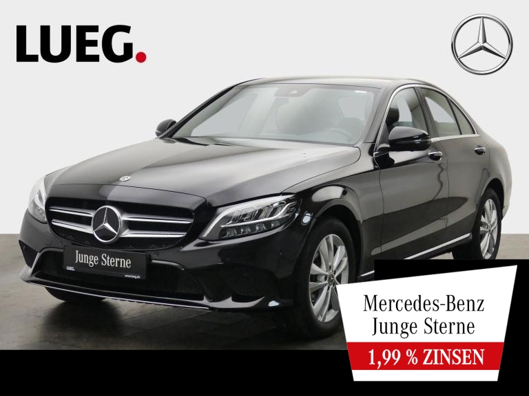 Mercedes-Benz C 180 Avantgarde+Navi+LED-HP+KeylGo+CarPl+360°, Jahr 2019, Benzin