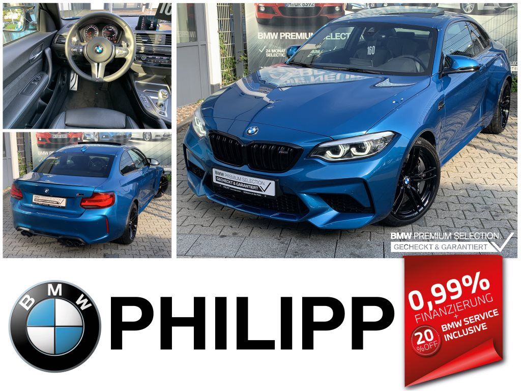 BMW M2 Competition M Drivers P.M Track Pack RFK LED, Jahr 2020, Benzin