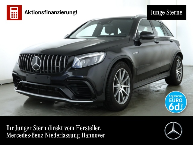 Mercedes-Benz GLC 63 AMG 4Matic+ Perf-Abgas LED Pano Distronic, Jahr 2019, petrol