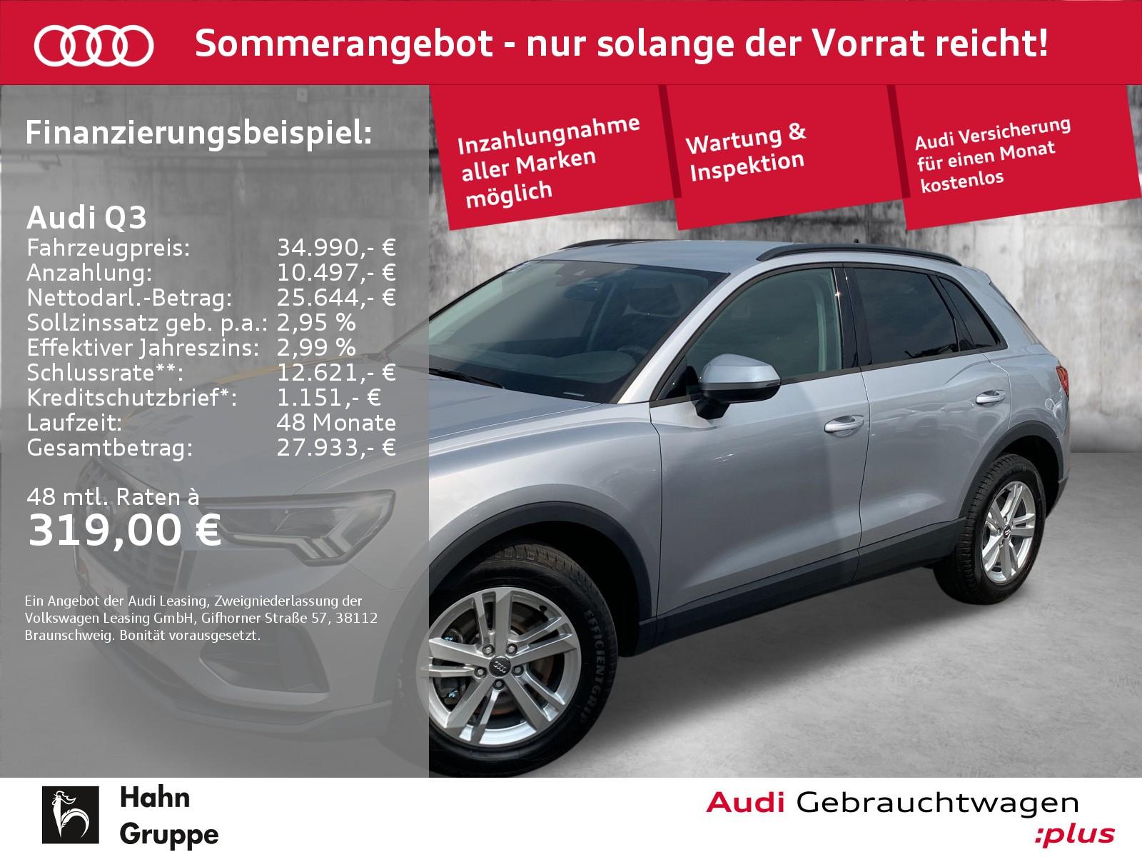 Audi Q3 45TFSI qu. S-Trc LED Navi Standh CAM ACC, Jahr 2019, Benzin