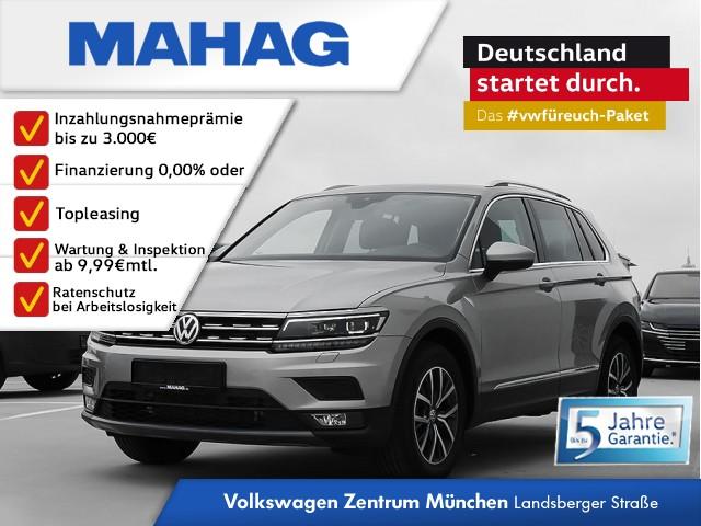 Volkswagen Tiguan Comfortline 1.5 TSI 6-Gang - NAVI / AHK / Side Assist Plus + Lane Assist / LED/ ACC / Head-up-Display / 3-Zonen Klima Tiguan 1.5actCLOPFFR 96 TSIM6F, Jahr 2019, Benzin