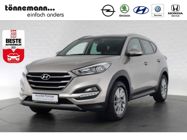 Hyundai Tucson PLUS+NAVI+RÜCKFAHRKAMERA+SITZHEIZUNG+TEMPOMAT+BLUETOOTH, Jahr 2017, Benzin