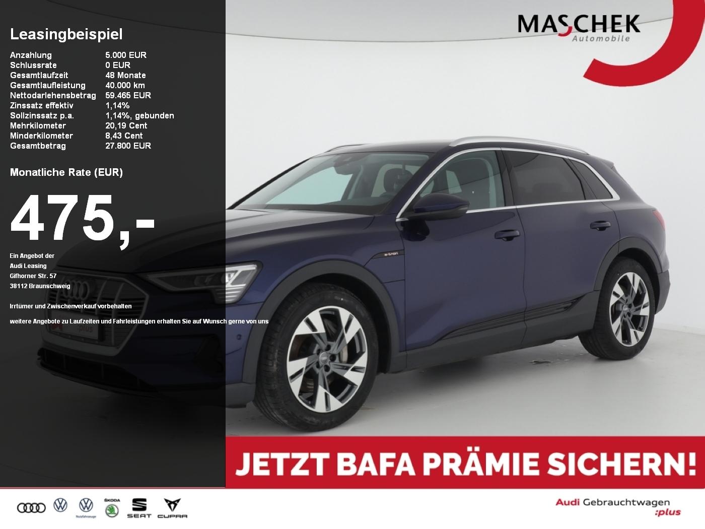 Audi e-tron 50 BAFA Alcantara ACC virtualcpt+ MMIPlus, Jahr 2019, Elektro