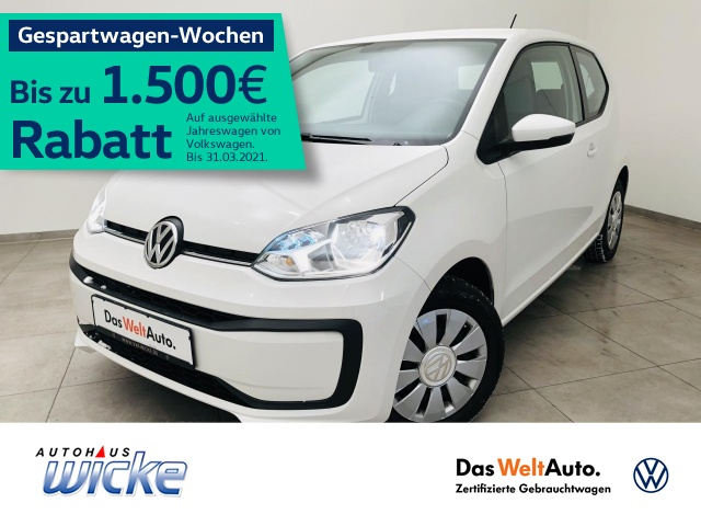 Volkswagen up! 1.0 move up! Klima USB, Jahr 2017, Benzin
