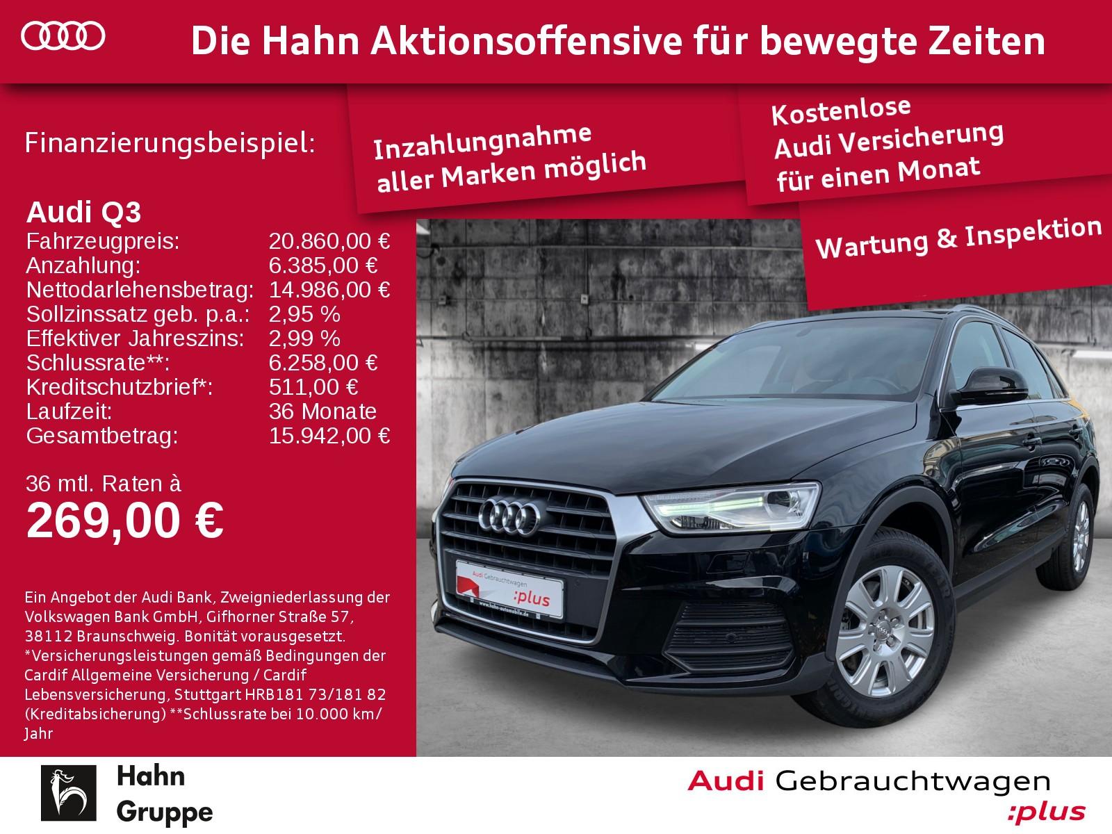 Audi Q3 2.0TDI S-Trc Xen Navi EinparkH SitzH, Jahr 2017, Diesel