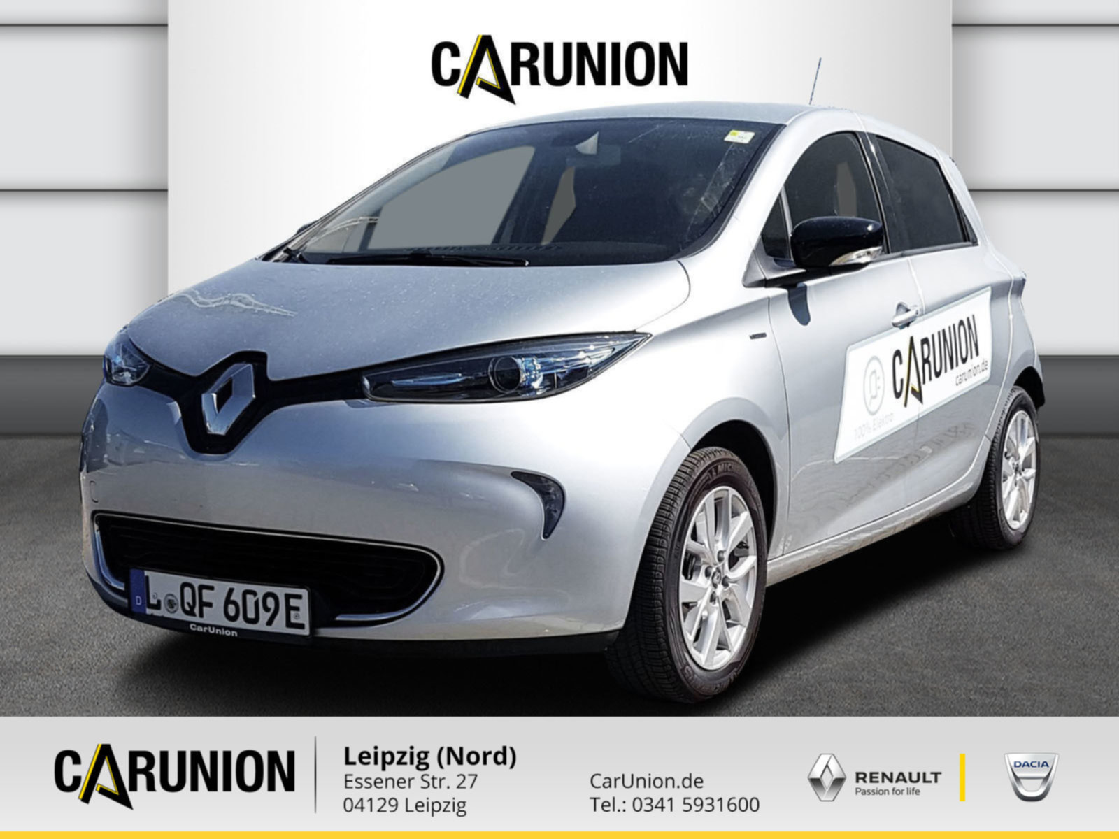 Renault ZOE LIFE Z.E.40 70 Batteriemiete Navi,PDC, Jahr 2020, Elektro
