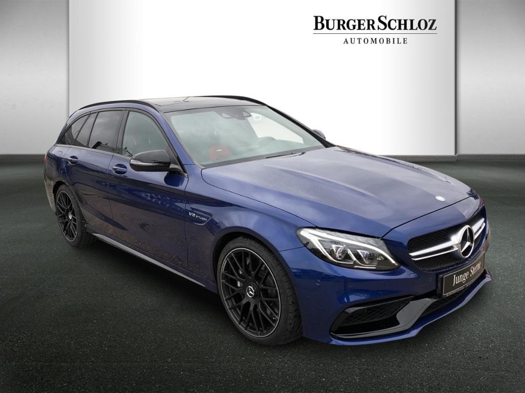 Mercedes-Benz C 63 T-Modell Burmester/Pano.-Dach/LED/AHK, Jahr 2017, Benzin