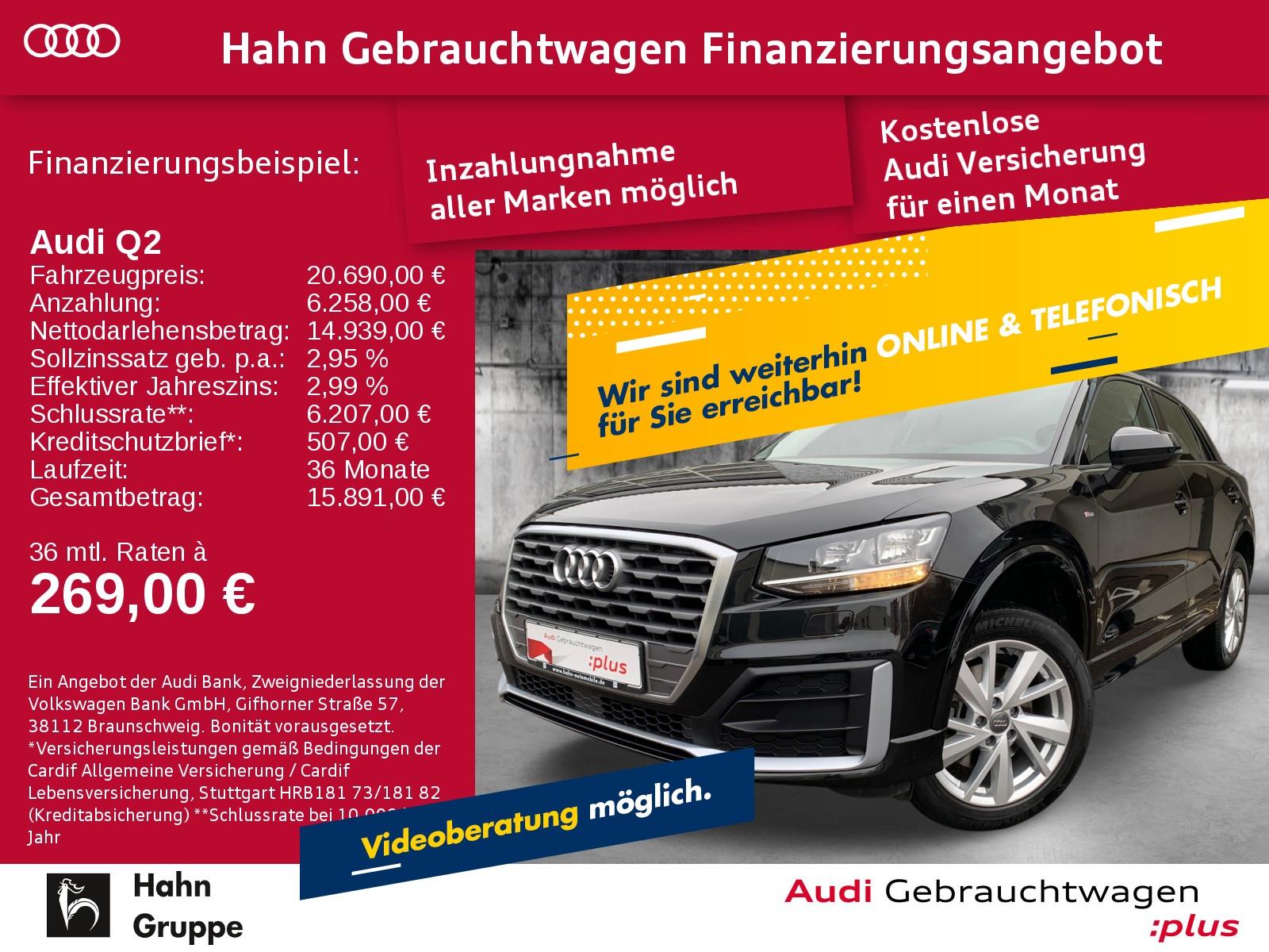 Audi Q2 Sport 1.0TFSI S-trc Navi-Vorb. Sitzh Einpark Klima, Jahr 2017, Benzin