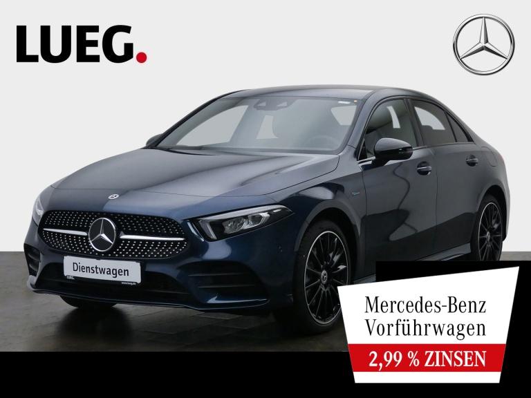 Mercedes-Benz A 250 e Lim AMG+NIGHT-PKT+19''+LED+MBUX-HIGH+KAM, Jahr 2020, Hybrid