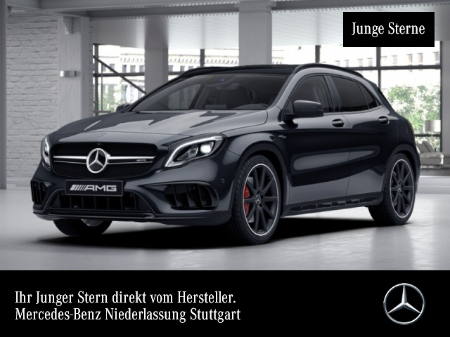 "Mercedes-Benz GLA 45 AMG NIGHT DYNAMIC EXKL. PANO DRIVERS 20"", Jahr 2017, petrol"