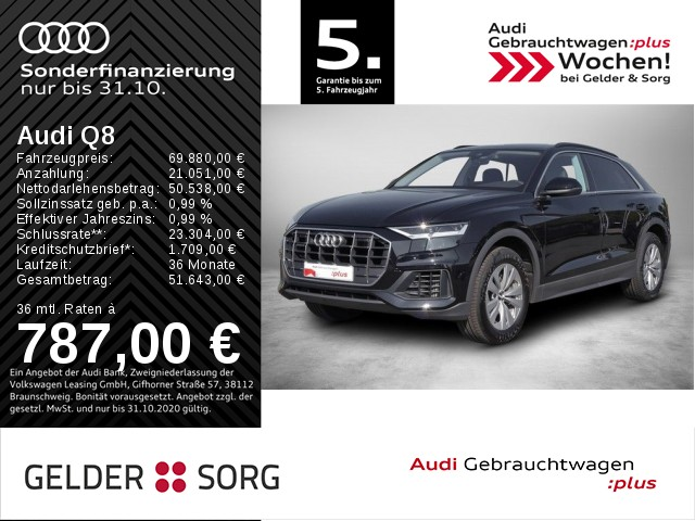 Audi Q8 55 TFSI qu. Standh.*Assist-Tour/Stadt*AIR, Jahr 2019, Benzin