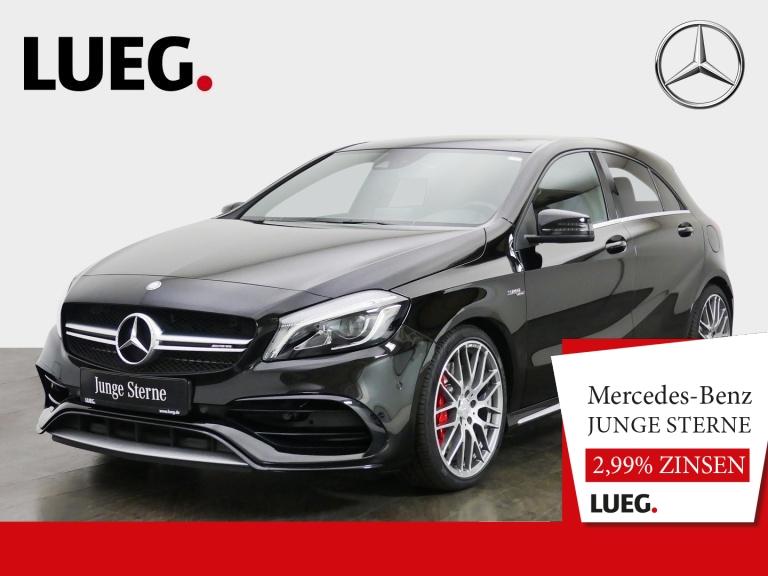 Mercedes-Benz A 45 AMG 4M Designo+Pano.-Dach+LED+Kamera+Navi, Jahr 2016, Benzin