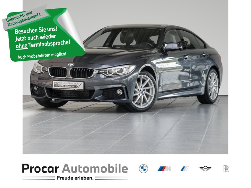 BMW 420i M Sport+Leder+Navigation+Glasdach+Xenon, Jahr 2015, Benzin