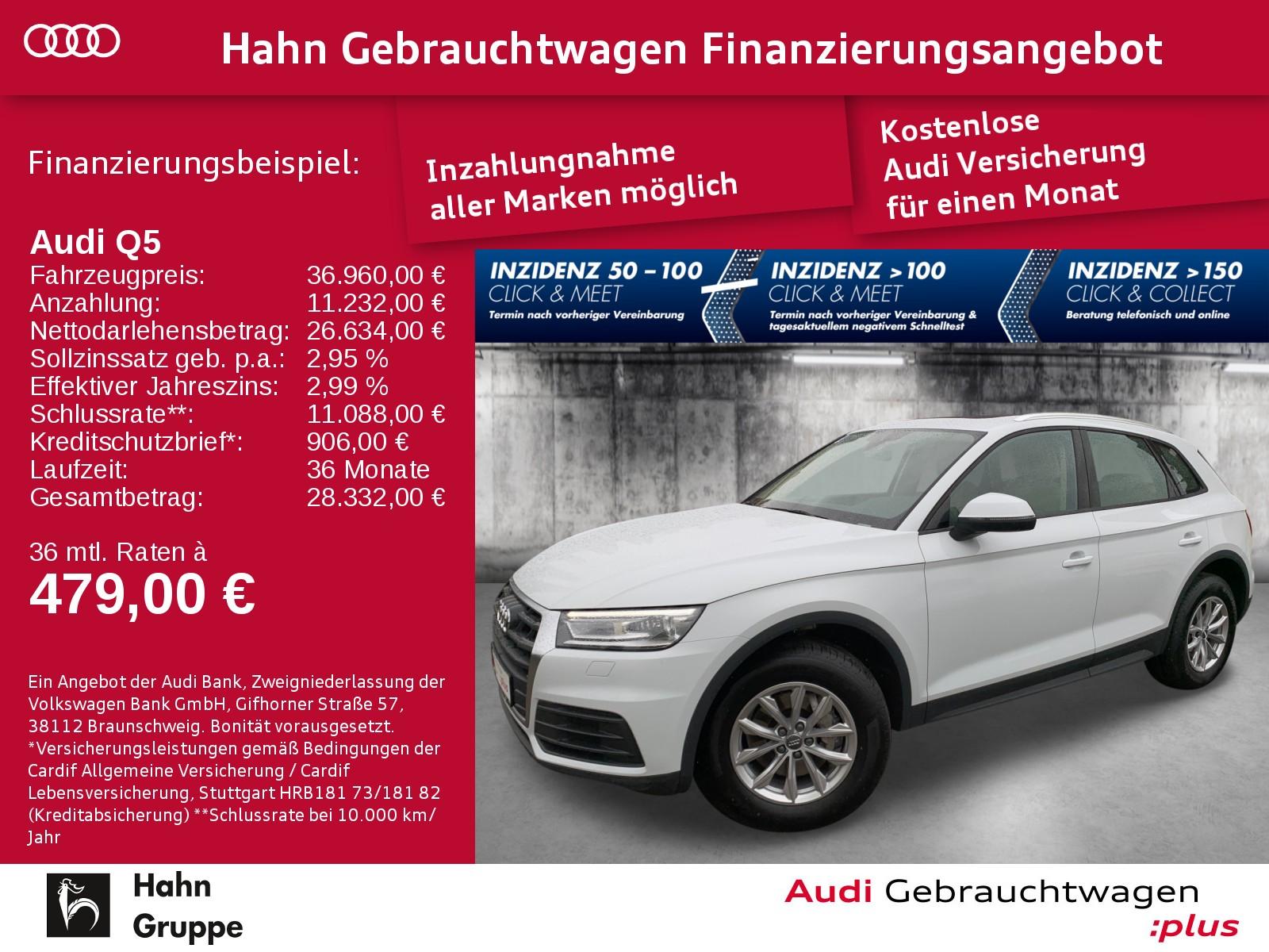 Audi Q5 40 TDI qua. S-trc Navi Xen AHK Sitzh Pano, Jahr 2020, Diesel